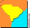 Vector Clip Art graphic  of a South Carolina
