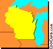 Wisconsin Vector Clipart graphic