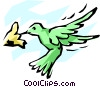 Vector Clip Art image  of a Hummingbird