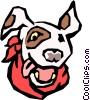 Vector Clip Art picture  of a Dog's face