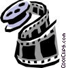 Vector Clip Art image  of a Film rolls