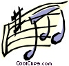 Vector Clipart picture  of a Music