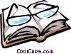Eyeglasses & book Vector Clip Art graphic