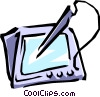 Vector Clip Art graphic  of a Pen computer