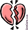 Vector Clipart graphic  of a Broken heart
