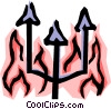 Fires of hell Vector Clip Art graphic