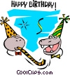 Vector Clip Art picture  of a Happy Birthday!