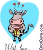 Vector Clip Art graphic  of a With love...