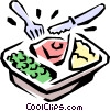 TV dinner Vector Clipart graphic