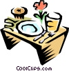 Breakfast tray Vector Clip Art graphic