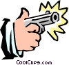 Vector Clip Art graphic  of a Handguns