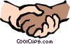Vector Clip Art graphic  of a Holding hands
