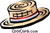 Vector Clipart graphic  of a Straw hat