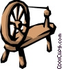 Spinning wheel Vector Clipart illustration