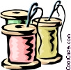 Vector Clip Art image  of a Needles & thread