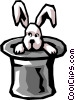 Rabbit and hat Vector Clip Art image