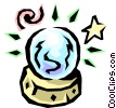 Vector Clip Art graphic  of a Crystal balls