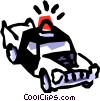 Vector Clip Art graphic  of a Police car