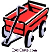 Red wagon Vector Clip Art picture