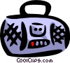 Vector Clipart picture  of a Portable stereo