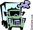 Transport truck Vector Clip Art graphic