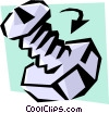 Vector Clip Art graphic  of a Nuts & bolts