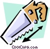 Vector Clip Art picture  of a Hand saw