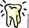 Vector Clipart picture  of a Molar tooth
