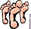 Vector Clipart graphic  of a Feet