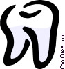 Vector Clip Art picture  of a The Tooth