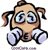 Vector Clip Art image  of a Gas mask
