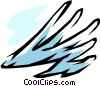 Vector Clip Art graphic  of a Clouds