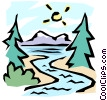 Vector Clip Art image  of a The great outdoors