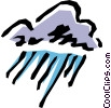 Vector Clip Art image  of a Clouds and rain