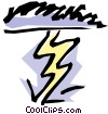Thunder storm Vector Clipart picture