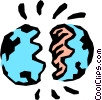 Vector Clip Art graphic  of a Earth's crust