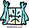Vector Clip Art graphic  of a Windows