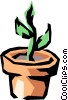 Vector Clip Art picture  of a Seedling