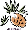 Vector Clipart picture  of a Pinecones