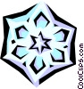 Vector Clipart picture  of a Snowflake designs