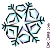 Vector Clip Art picture  of a Snowflake designs