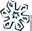 Vector Clipart illustration  of a Snowflake designs