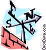 Vector Clip Art picture  of a Weather vane