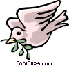 Peace dove Vector Clipart graphic