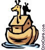 Vector Clipart illustration  of a Noah's ark
