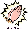 Vector Clipart image  of a Praying hands