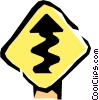 Vector Clipart graphic  of a Road signs