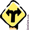 Vector Clipart image  of a Road sign