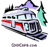 Train engine Vector Clipart illustration