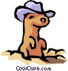 Gopher Vector Clipart graphic